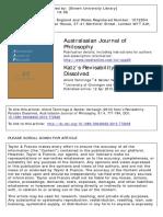 Australasian Journal of Philosophy Volume 91 Issue 4 2013 [Doi 10.1080_00048402.2013.772648] Tamminga, Allard; Verhaegh, Sander -- Katz's Revisability Paradox Dissolved