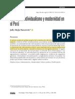 Sociededad Individualismo y Modernida en Peru