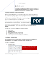 Designing Action Queries in Access 2010