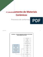 Aula 6 Processos de Conformação de Materiais Cerâmicos
