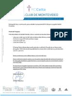 Carta del Celta de Vigo