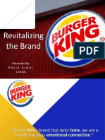 Revitalizing the Brand - Burger King
