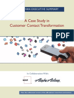 A Case Study in Customer Contact Transformation1