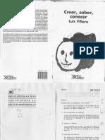 Villoro, Luis - Creer, Saber, Conocer.pdf · Versión 1