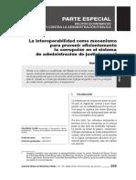 La interoperabilidad como mecanismo para prevenir corrupción en el sistema de justicia penal
