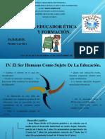 El Educador Ética y Formación. Miércoles 141118