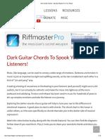 dark chords