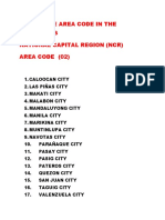 List of the Area Code in the Philippines Togs