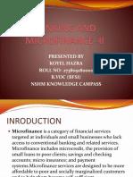 Banking and Microfinance -II