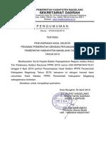 Pengumuman P3K Tahap 1 2019 Dan Lampiran