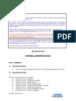 Basf Waterproofing Specification