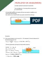 Ejemplos de Principio de Arquimedes Vc