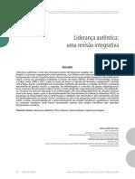Liderança Autêntica Uma Revisão Integrativa 2014