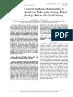 Prototipe Sistem Berbasis Mikrokontroler untuk Pengkondisian Suhu pada Analogi Panel  dengan Analogi Sistem Air Conditioning  =makalah dgn kode 554-1386-1-PB=