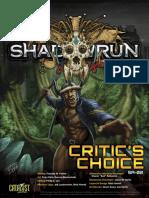 Shadowrun 5e Critic's Choice Cover