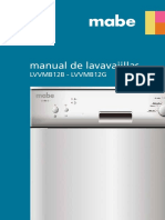 Manual Lavavajillas Mabe LVVMB12B