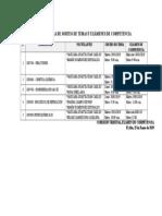 Cronograma Examenes de Competencia Para Publicacion