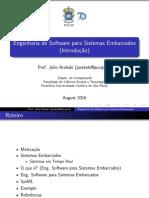 Engenharia de Software para Sistemas Embarcados (Introdução)