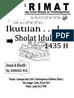Brosur Sholat Ied