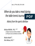 Table Tennis Nutrition