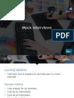 Mock Interviews Presentation