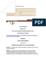 Ley 734 Codigo Disciplinario