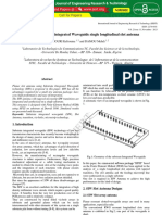 Design of Substrate Integrated Waveguide Single Longitudinal Slot Antenna IJERTV2IS110317