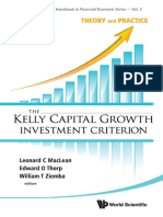 [World Scientific Handbook in Financial Economic Series] Leonard C. MacLean, Edward O. Thorp, William T. Ziemba - The Kelly Capital Growth Investment Criterion_ Theory and Practice (2011, World Scientific Publishing Company).pdf