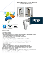 Data Sheet for Electro Mechanical Tripod Turnstile Updated