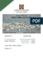 Project Work on Okhla Bird Sanctuary
