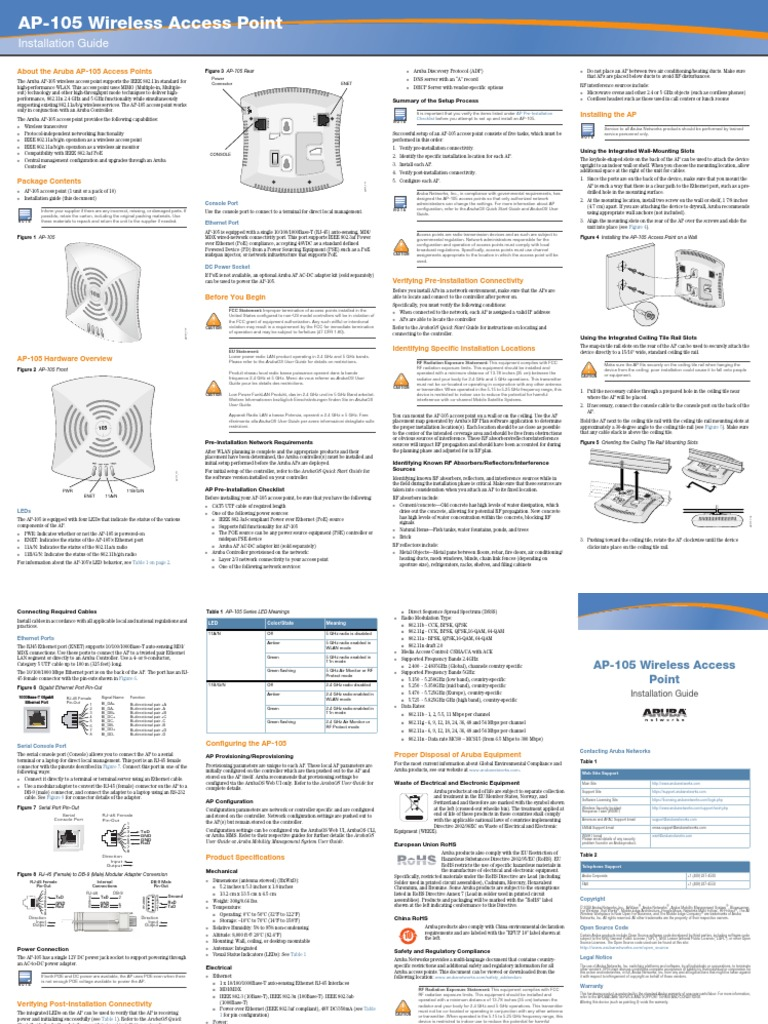 AP105_IGposter_02 pdf | Ieee 802 11 | Wireless Access Point
