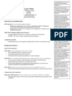 Legal Cv for Vacation Placement Applications With Comments 2016