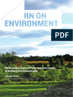 Return on Environment- The Economic Value of Protected Open Space in Chester County
