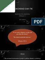 Filsafat Dan Etika Administrasi - Demokrasi Dan TIK (1)