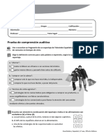 Teste 8ºano Espanhol