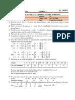Tutorial-III Math 1005