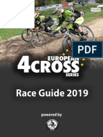Rennbroschüre European 4Cross Series 2019