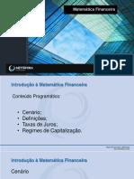 Slides Introdução à Matemática Financeira