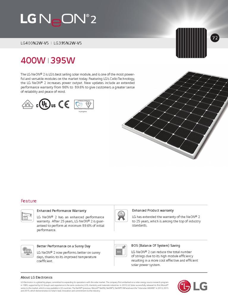 NeON 2 72cells | Solar Panel | Renewable Resources
