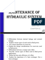 Maintenance of Hydraulic System