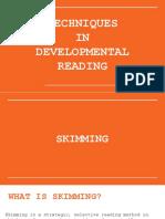 Developmental Reading Strategies