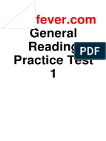 Ielts Fever General Reading Practice Test 1