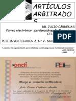 ARTICULOS  ARRBITRADOS
