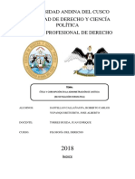 Folisofia Del Derecho