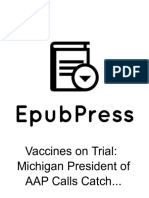 """Vaccines on Trial- Michigan President of AAP Calls Catch-Up Vaccination """"Torture"""""""