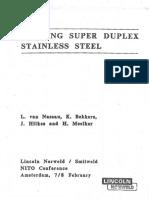 12. Welding Super Duplex Stainless Steel Lincoln NorweldSmitweld NITO Conference