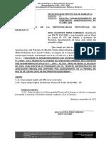 Solicitud - Municipalidad -Sra. Rosa Perez