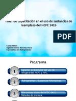 CAP 1E Taller Cap Uso de Reemplazos Del HCFC 141b