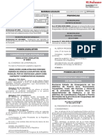Declaran Estado de Emergencia en Los Distritos de Puerto Inc Decreto Supremo n 050 2019 Pcm 1754563 1