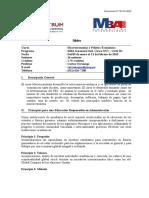 141021 MBA G - Macroeconomía y Política Económica